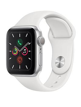 Apple   Watch Series 5 (Gps), 40Mm Silver Aluminium Case With White Sport Band
