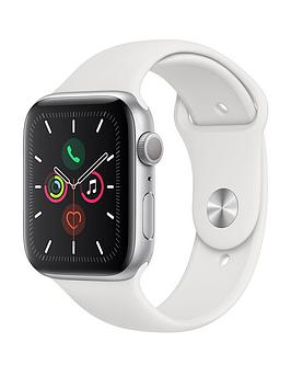 Apple   Watch Series 5 (Gps), 44Mm Silver Aluminium Case With White Sport Band