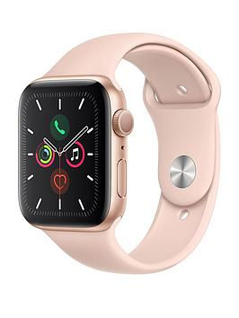 Apple   Watch Series 5 (Gps), 44Mm Gold Aluminium Case With Pink Sand Sport Band