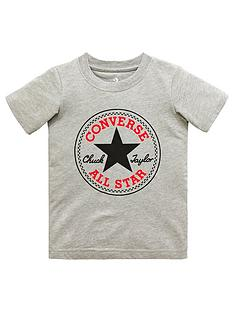40d75e6e7d8c Converse Converse Boys Chuck Patch T-Shirt - Dark Grey