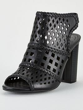 V by Very V By Very Brittany Laser Cut Shoe Boot - Black Picture