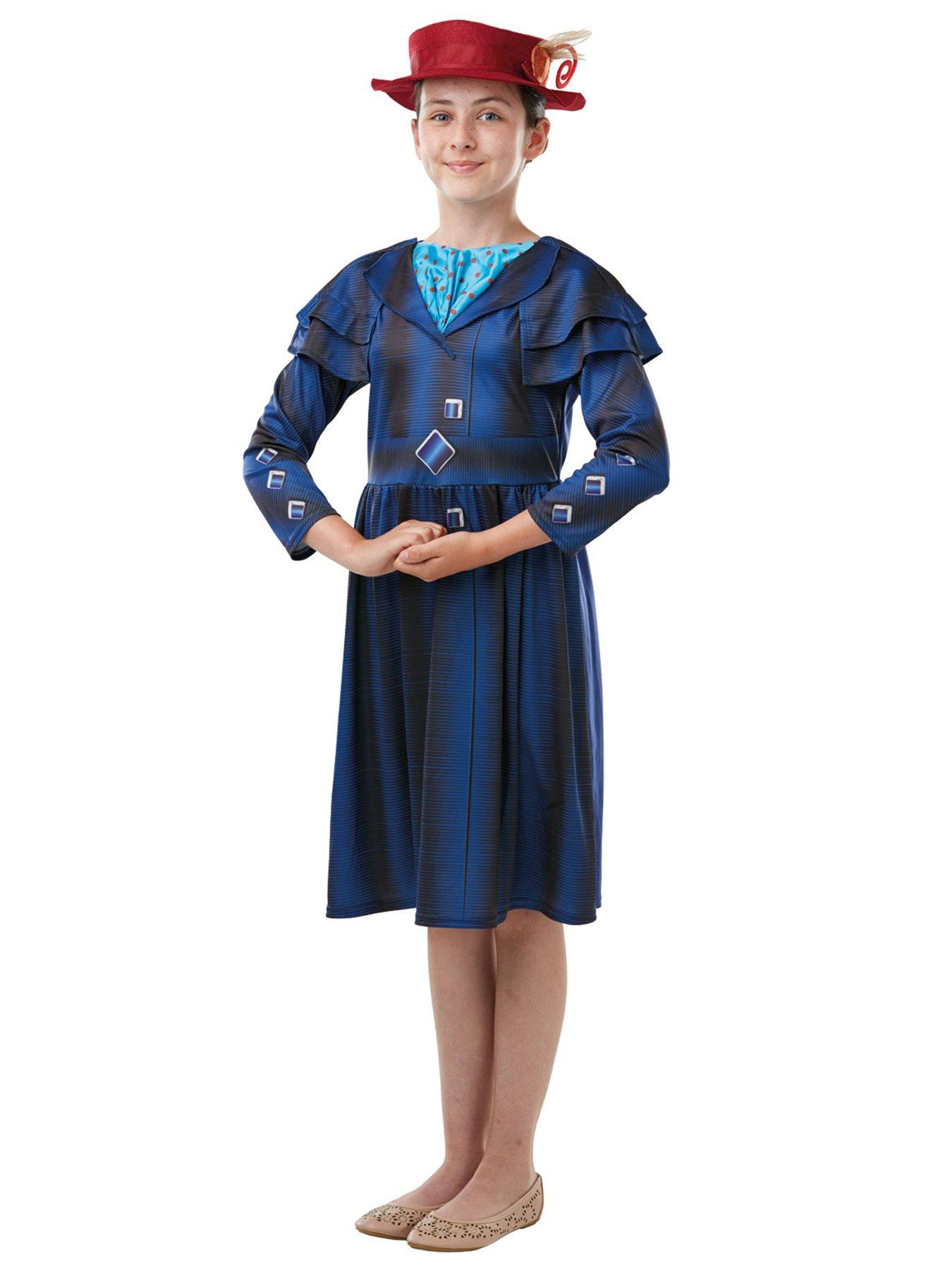 """Kids Fancy Dress World Book Day MARY POPPINS NANNY AGE 9-10 Fits up to 35/"""" chest"""