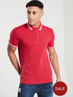 boss-athleisure-tipped-polo-shirt-red