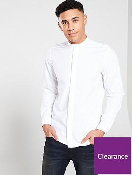boss-casual-grandad-collar-shirt-white