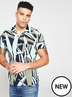 boss-casual-short-sleeve-abstract-print-shirt-multi-coloured
