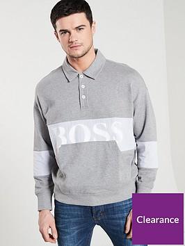 boss-casual-polo-sweat-top-grey