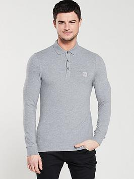 boss-casual-long-sleeved-slim-fit-polo-shirt-grey
