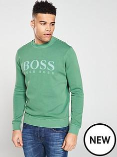 boss-casual-chest-print-sweatshirt-mint
