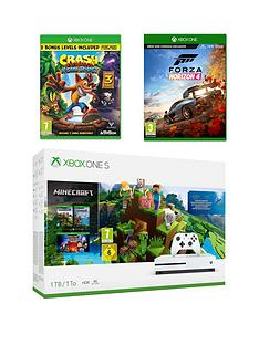 xbox-one-s-1tbnbspminecraft-bundle-with-crash-bandicoot-nsane-trilogynbspand-forza-horizon-4