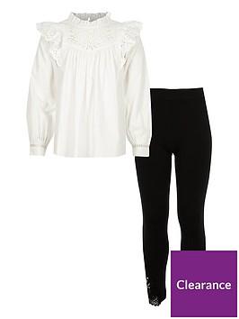 river-island-ls-cream-broidery-blouse-crochet-hem-legging-set