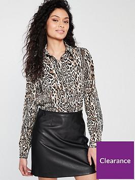 v-by-very-animal-button-through-blouse-printednbsp