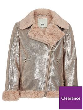 river-island-girls-metallic-faux-fur-aviator-jacket