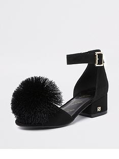 river-island-girls-pom-pom-block-heel-sandals-black