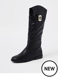 river-island-girls-black-ri-monogram-knee-high-boot