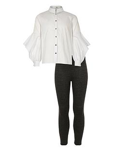 river-island-girls-button-shirt-and-leggings-set-white