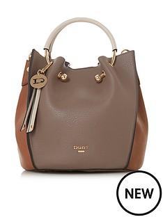 dune-london-dinidumpkin-small-metal-handle-tote-bag-brown