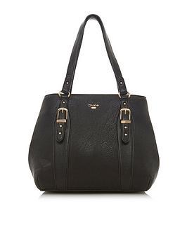 dune-london-dakes-medium-buckle-detail-tote-bag-black