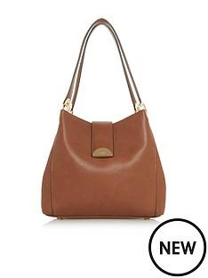 Dune London Demi Medium Day Lock Slouch Bag - Tan b6f693053fcc0