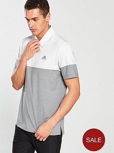 adidas-golf-ultimate-365-heather-blocked-polo-greywhite