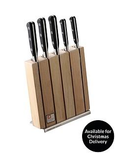 richardson-sheffield-sabatier-trompette-5-piece-knife-set-with-block