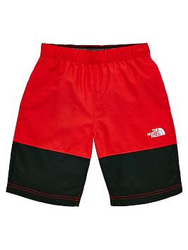 the-north-face-boys-class-v-water-shorts-blackred