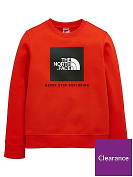 the-north-face-boys-box-crew-sweat-red