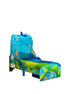 worlds-apart-dinosaur-toddler-bed-with-storage-and-canopy