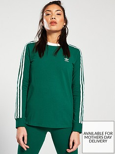 adidas-originals-3-stripe-long-sleeve-tee-greennbsp