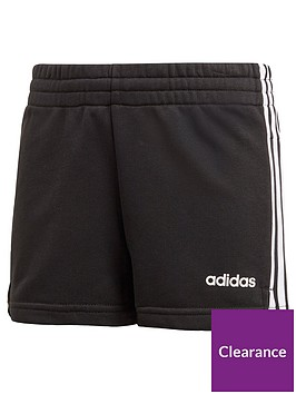 adidas-girls-3-stripe-shorts-black