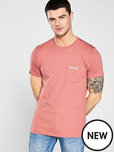 denham-crest-t-shirt-pink