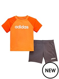 adidas-baby-boy-linear-short-amp-t-shirt-set-orange