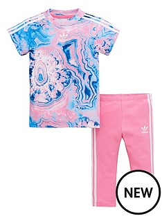 adidas-originals-adidas-originals-baby-girls-marble-tee-set