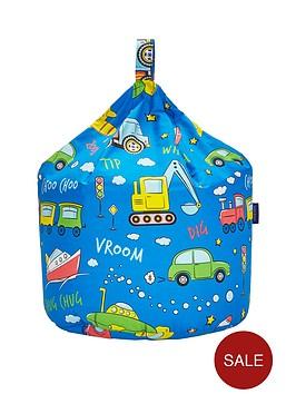 transport-print-bean-bag