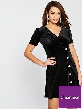 river-island-velvet-mini-dress-black