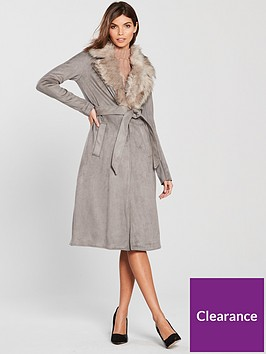 river-island-river-island-suedette-faux-fur-collar-robe-coat-grey