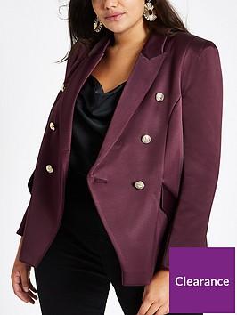 ri-plus-satin-blazer-purple