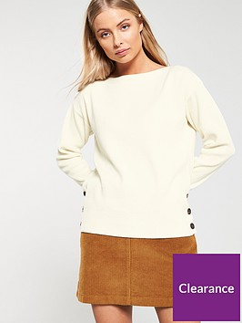 v-by-very-button-boat-neck-jumper-cream