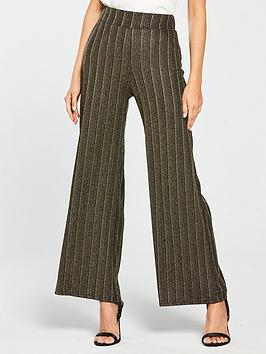 river-island-river-island-co-ord-jersey-trousers-gold