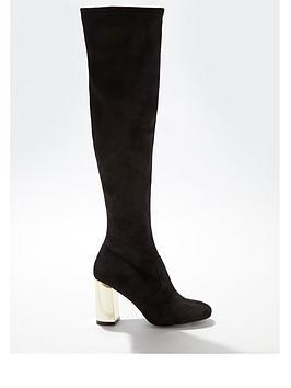 miss-selfridge-heeled-micro-knee-high-heeled-boots-blackgold