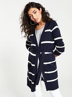 v-by-very-edge-to-edge-stripe-belted-cardigan-navy-cream