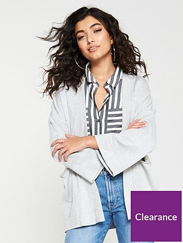 v-by-very-kimono-sleeve-edge-to-edge-cardigan-ndash-grey
