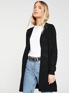 v-by-very-pointelle-stripe-edge-to-edge-cardigan-black