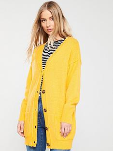 v-by-very-slouch-button-seam-cardigan-yellow