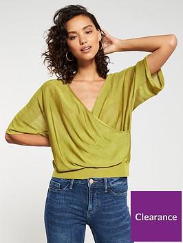v-by-very-wrapover-draped-kimono-sleeve-jumper-lime