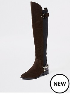 river-island-river-island-chain-detail-knee-high-boots-brown