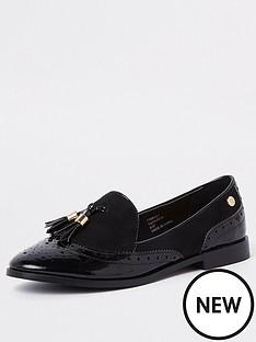 river-island-river-island-patent-tassel-loafers-black