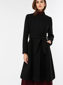 monsoon-beatrice-belted-fit-and-flare-coat-black