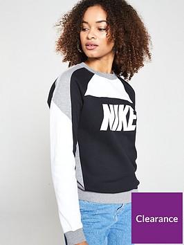 nike-sportswear-fleece-crew-blackwhitegreynbsp