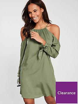 superdry-eden-cold-shoulder-dress-khaki