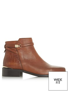 dune-london-wide-fit-peppey-strap-detail-ankle-boot-tan